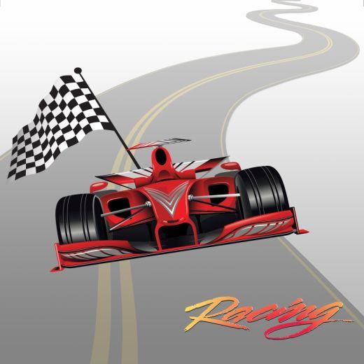 Racing Desenli Baskılı Zebra Perde BZP70340