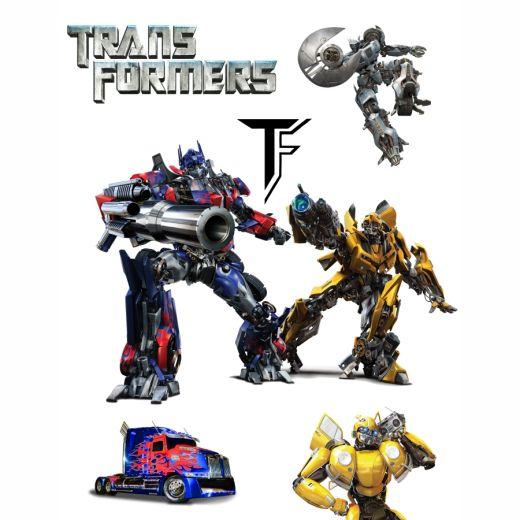 Transformers Desenli Baskılı Zebra Perde