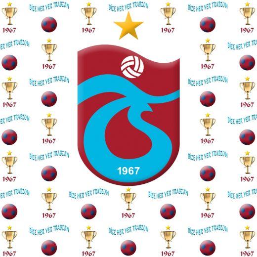 Trabzonspor Desenli Baskılı Zebra Perde BZP70096