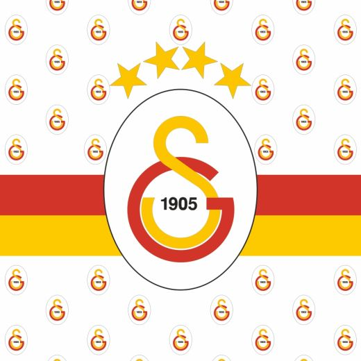 Galatasaray Desenli Baskılı Zebra Perde