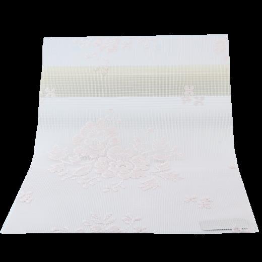 Pembe Çiçek Desenli Dantella Serisi Tül Stor Perde DANTELLA120