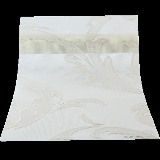 Kahverengi Yaprak Desenli Dantella Serisi Tül Stor Perde DANTELLA220