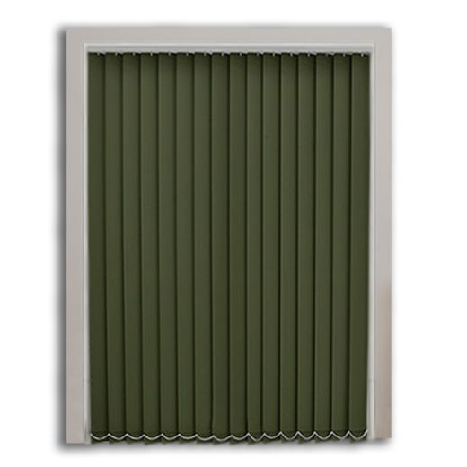 Kamuflaj Yeşili Polyester Dikey Perde