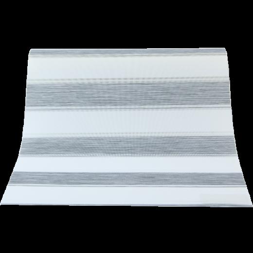 Gri Beyaz Çizgili GL Serisi Keten Stor Perde GL500