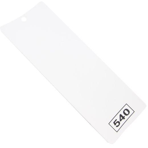 Kar Beyaz Kavisli Pvc Dikey Yedek Slatı (PVC540-Slat)