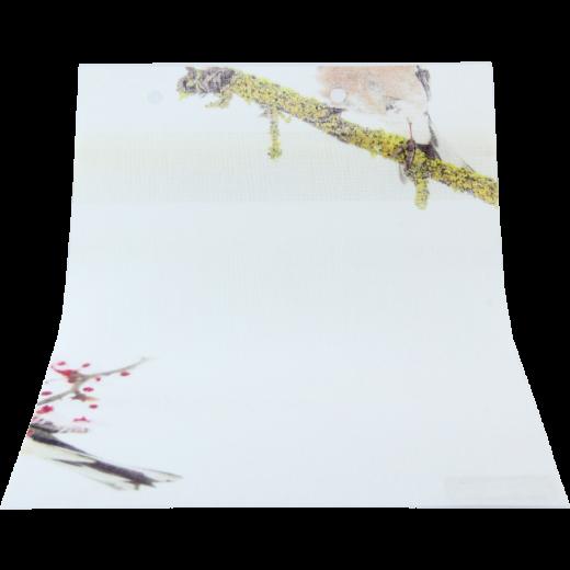 Sarı Dal Baskılı DESING Serisi Tül Stor Perde DESING-540