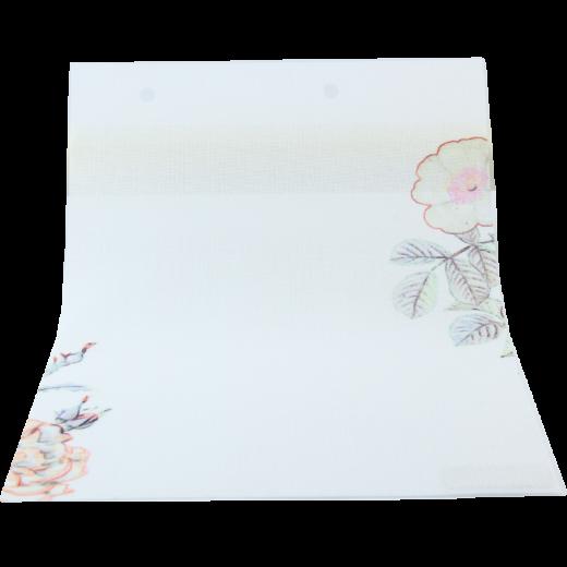 Silik Çiçek Baskılı Pembe DESING Serisi Tül Stor Perde DESING-520