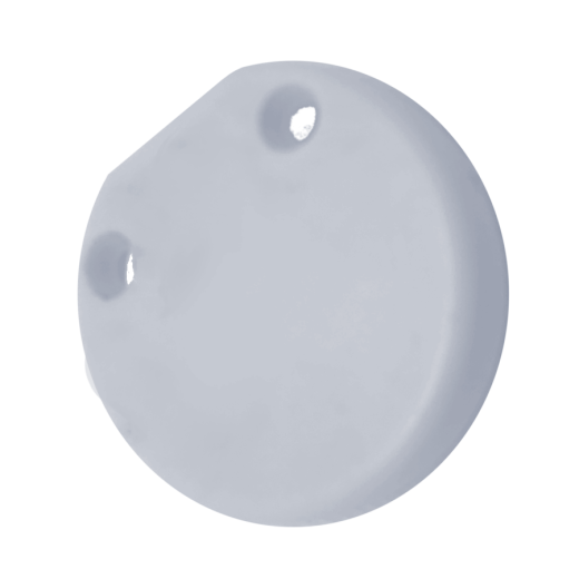 Stor/Zebra/Projeksiyon Beyaz Yuvarlak Etek Tıpası