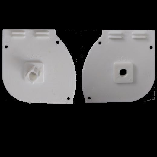 Kapalı Kasa Perde Erkek ve Dişi Aparatlı Küçük Kutu Modüler Beyaz Kapak Takımı