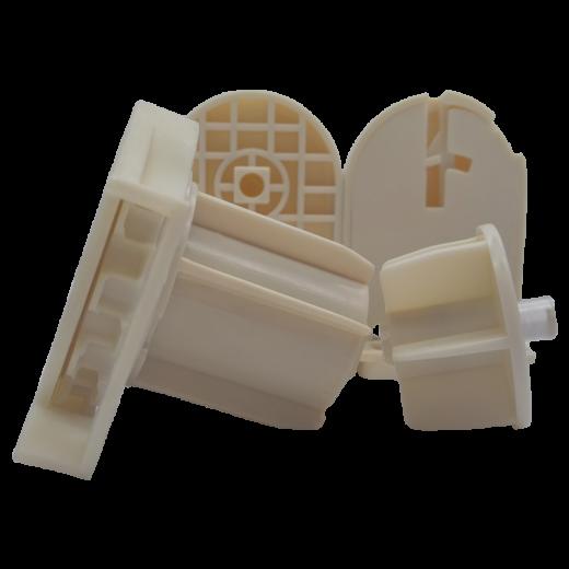 38 lik Zincir Mekanizma Kare Tıpalı ve Mandallı Krem Plastik Ayak Takımı SPY238