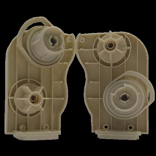 Çift Mekanizmalı Stor Perde Kapalı Kasa Kapak ve Mekanizma Krem Takım