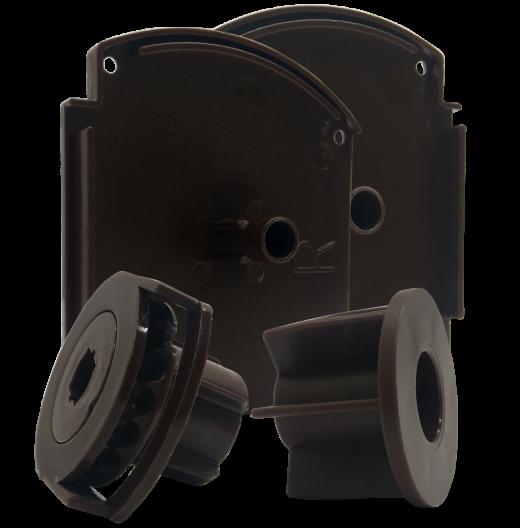 Kapalı Kasa Küçük Kutulu Perde Siyah Kapak ve Mekanizma Takımı SPY403