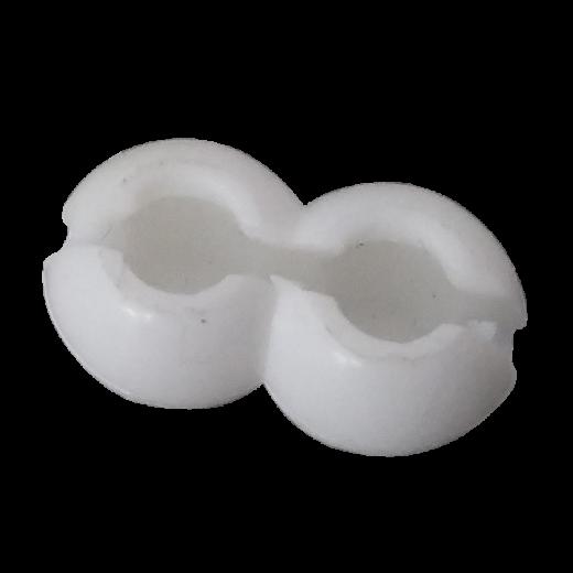 Perde Plastik Beyaz Yuvarlak Çocuk Kilitli Zincir Kilidi SPY423