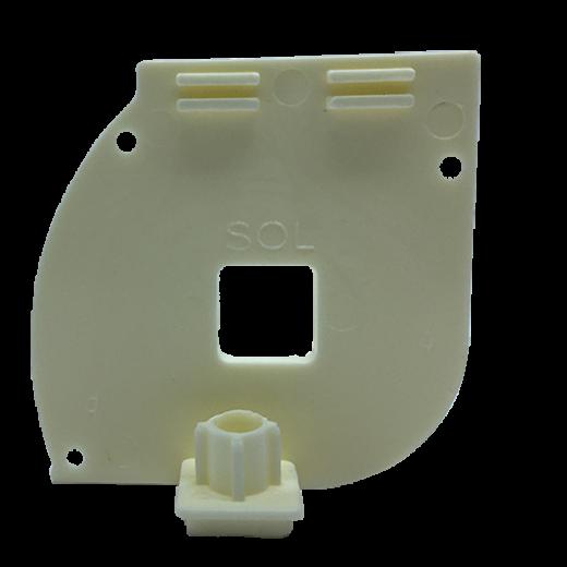Kapalı Kasa Perde Dişi Aparatlı Küçük Kutu Modüler Beyaz Sol Kapak SPY442