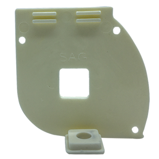 Kapalı Kasa Perde Dişi Aparatlı Küçük Kutu Modüler Beyaz Sol Kapak SPY443