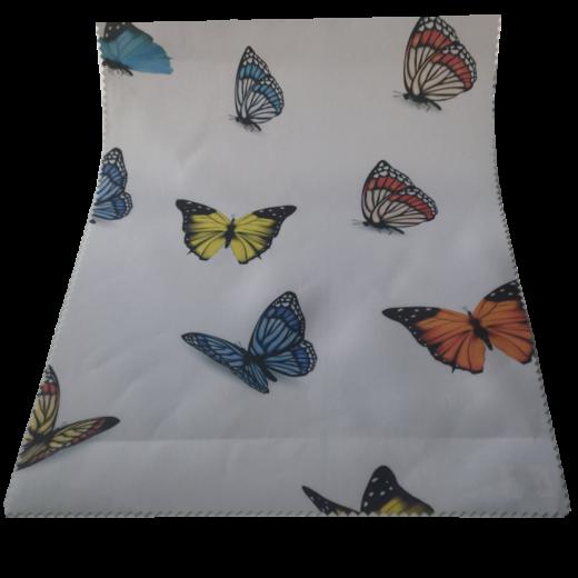 Renkli Kelebekler Desenli Baskılı Zebra Perde