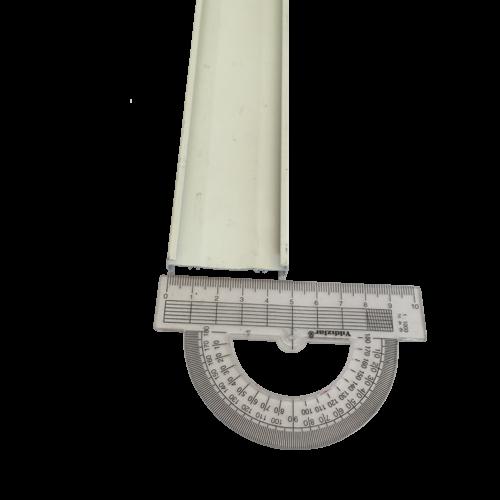 Stor Perde Alüminyum Geniş Kasa Krem Montaj Profili SPY035