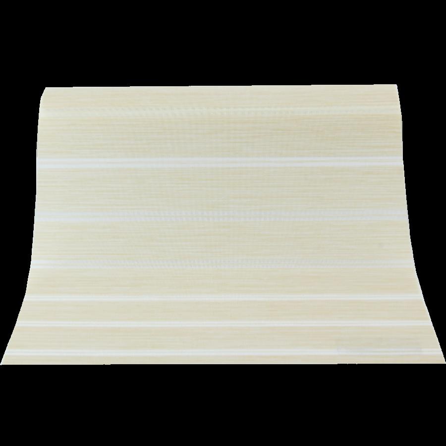 Bej Beyaz Çizgili GL Serisi Keten Stor Perde GL300