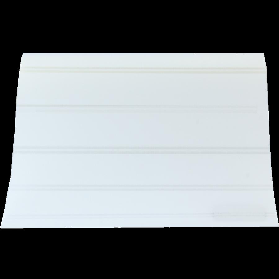 Beyaz Beyaz Çizgili GL Serisi Keten Stor Perde GL100