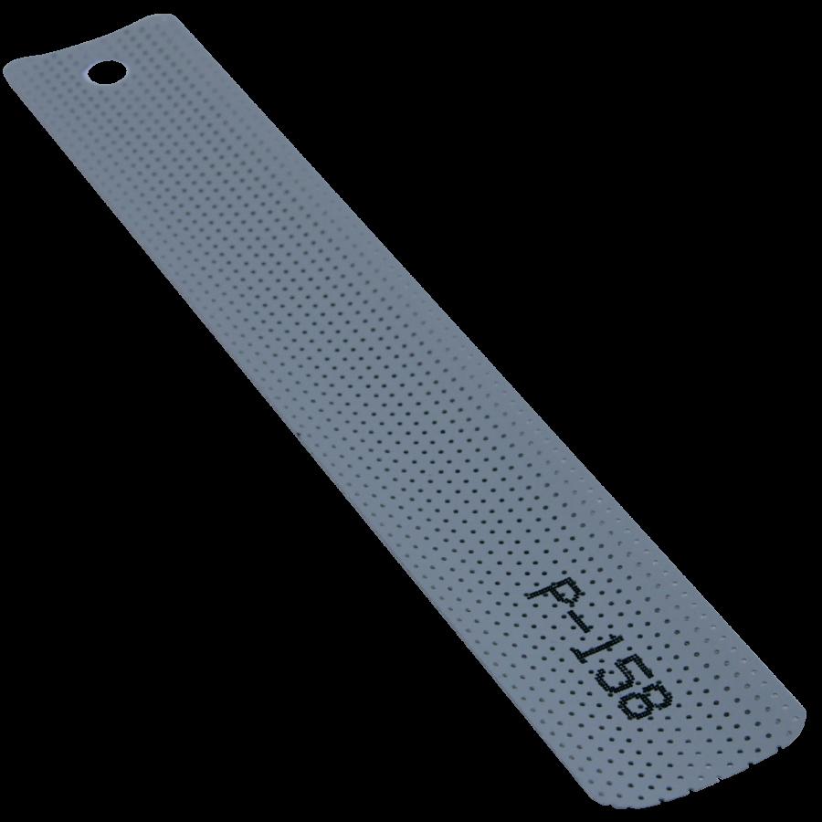 Boyalı Gri Perfore Alüminyum Jaluzi Perde (P158)