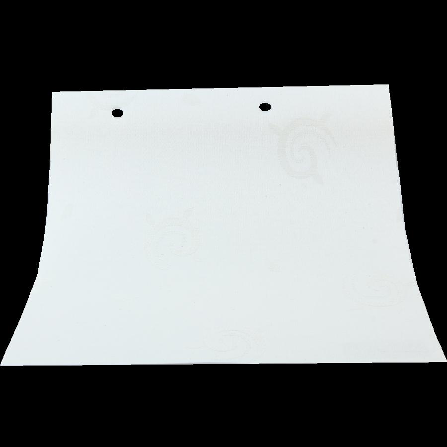 Güneş Desenli Beyaz LACE Serisi Keten Stor Perde LACE4000