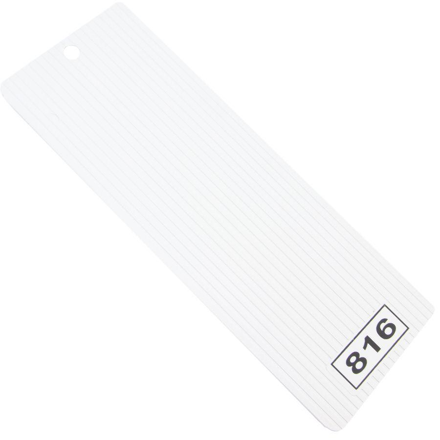 Beyaz Oluklu PVC Dikey Perde (PVC816)