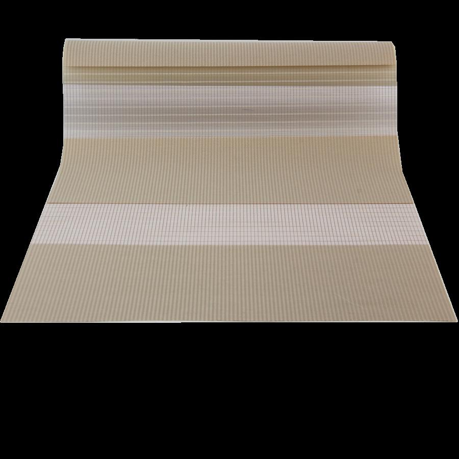 Sütlü Kahverengi Desenli ZA Serisi Zebra Stor Perde