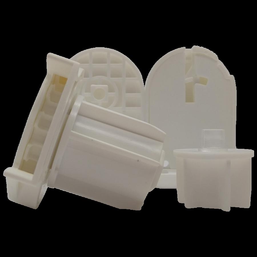 32 lik Zincir Mekanizma Kare Tıpalı ve Mandallı Beyaz Ayak Takımı SPY236