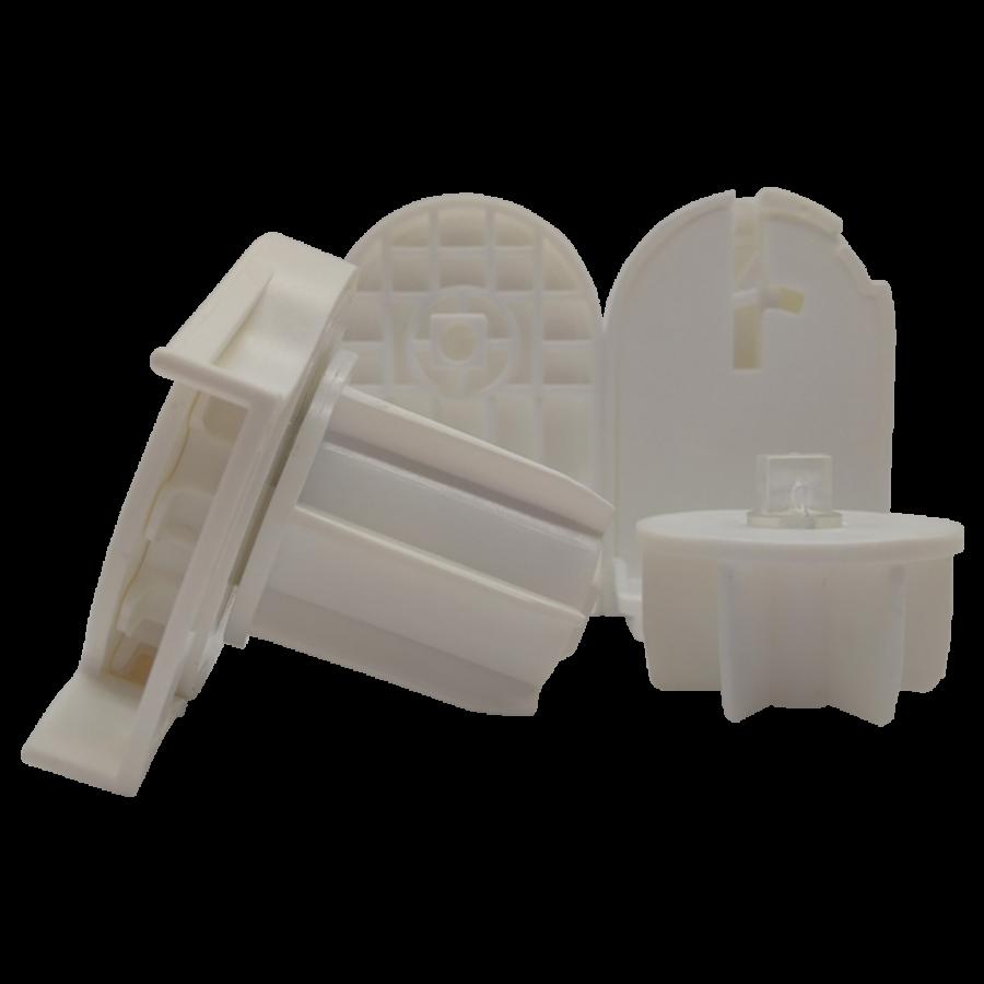 38 lik Zincir Mekanizma Kare Tıpalı ve Mandallı Beyaz Plastik Ayak Takımı SPY239