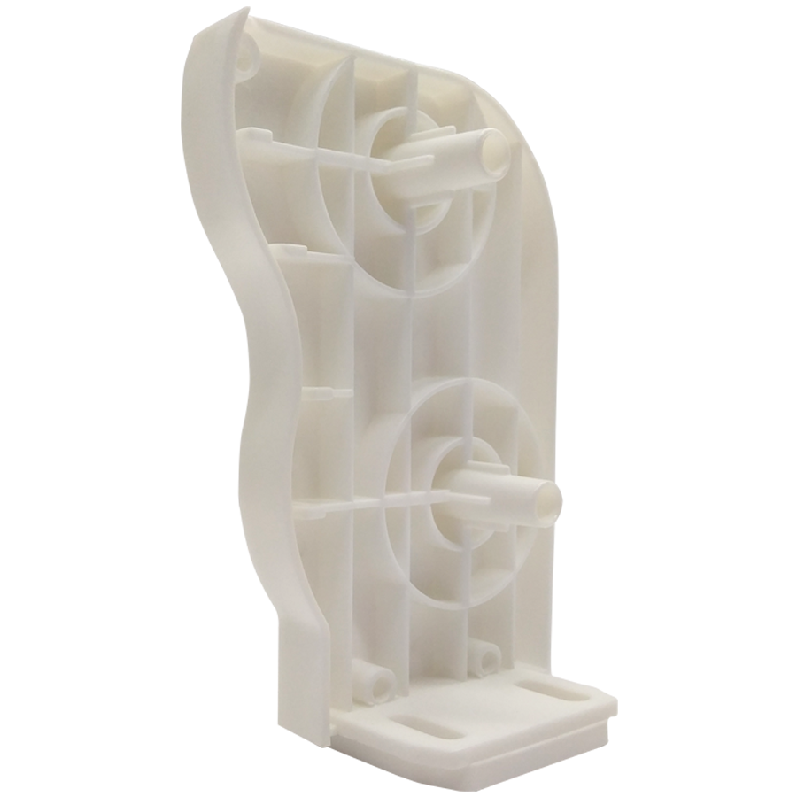 Kapalı Kasa Duble veya Çiftli Sitem Stor ve Zebra Perdelerin Dişi Mekanizmalara ve Dişi Boru Sonlarına Uygun Kare Tıpalı Çiftli Mekanizma Beyaz Sol Kapak SPY302