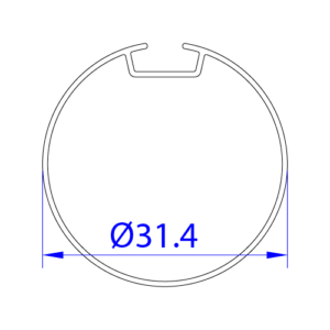 32 lik stor perde borusu