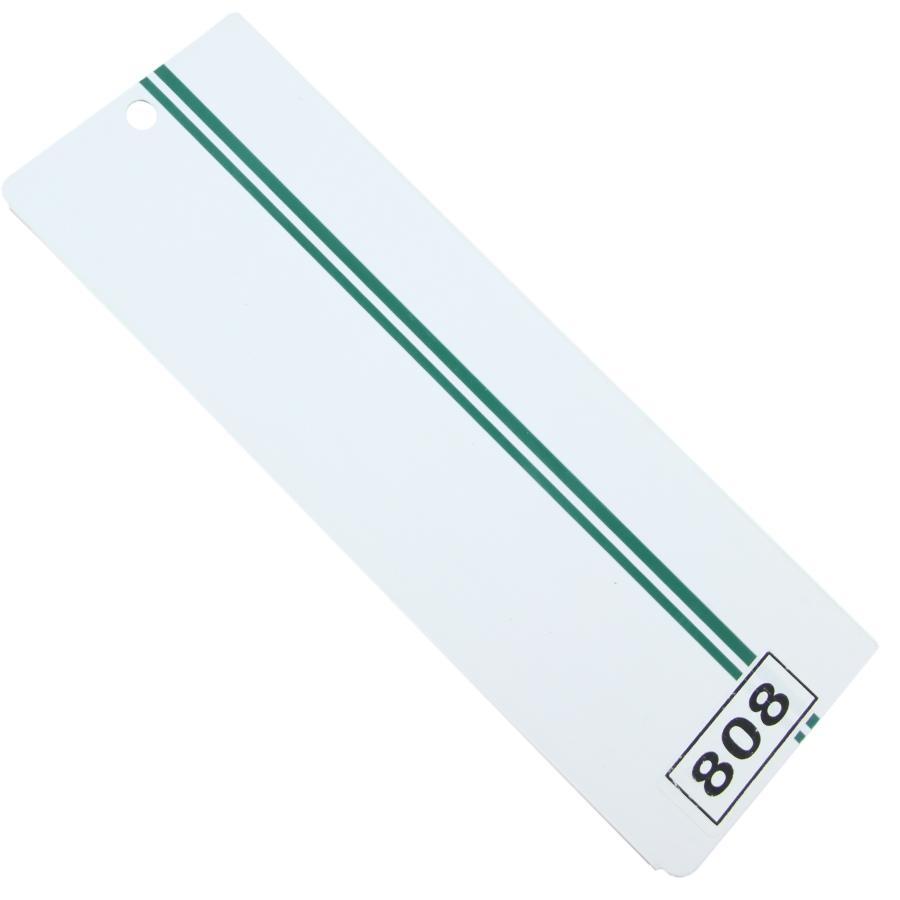 PVC809 PVC yeşil çift çizgili dikey perde